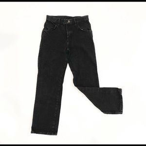 Vintage High Waisted Black Rustler Jeans